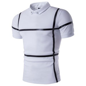New Style Plus Size Shirt Men Short Sleeve Slim Fit Summer Shirt Men Striped Camisa Masculina