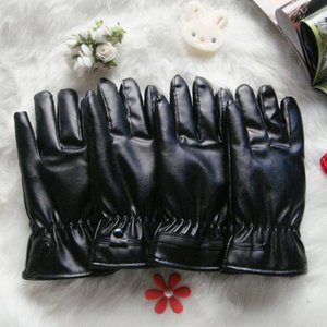 Thermal touch screen leather gloves winter male cycling motorcycle waterproof pu gloves female velvet wholesale giveaway