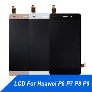 Huawei P6 P7 P8 P9 için cep Telefonu Dokunmatik Panel LCD Ekran Onarım Dokunmatik Ekran Digitizer Meclisi Ekran için huawei P8 P9 Lite ücretsiz kargo