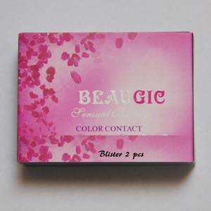 12 renk beaugic hidrocor 50 çift / grup renkler kontakt lensler durumda renkler kontakt lensler vaka kontakt lensler çantası