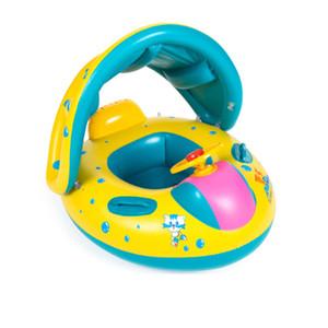 Sicherheits-Baby-Schwimmenring aufblasbares Baby schwimmen Poolspielzeug Sitz-Boots-Ring-Schwimmen-Pool-Sonnenschutz-Baby-Schwimmen-Sitz-Schwimmen-Boot C3988