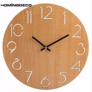 Homingdeco simple reloj de pared ronda diseño moderno decoración del hogar relojes de pared reloj decoración hogar buen regalo venta al por mayor 2018 nuevo