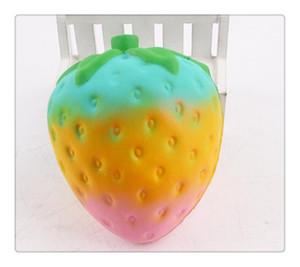 Yavaş Yükselen Squishy Oyuncak Mutfak Gıda Meyve Eğitici Jumbo Sevimli Çilek Squishy Oynayan Yavaş Yavaş Yükselen Yumuşak Oyuncak