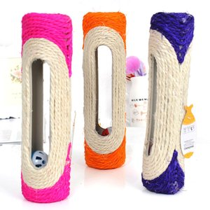 1pc colore casuale Pet Supplies Cat Scratch Board Toy Sisal Cat Kitten Tiragraffi per gatti per la protezione mobili