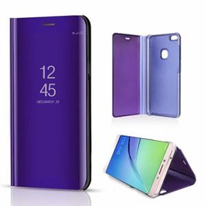 Luxury Mirror Clear View Case per Huawei P10 Lite Y5 Y5 prime Y6 Y6 prime Y6 Pro Y7 2018 Y7 prime Cover telefono Placcatura Base Vertical Stand
