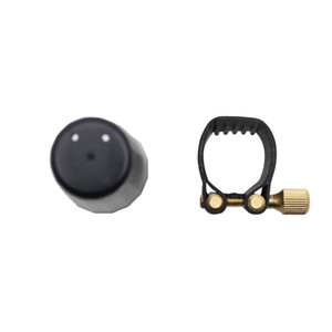 Cierre de ligadura de cuero con tapa de plástico para boquilla de baquelita de saxofón tenor