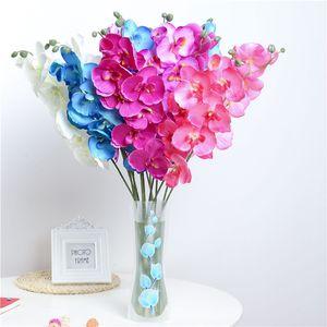 Moda Orchidea Fiori artificiali FAI DA TE Farfalla Orchidea Panno Fiori finti Bouquet Festa nuziale Decorazioni artificiali Fiori