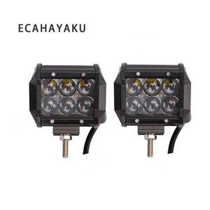 ECAHAYAKU 2 pcs 12 V 24 V 30 W Conduziu o trabalho Barra de Luz Lente do Projetor 4D 4 polegada Linha Dupla 6000 K À Prova D 'Água para o Trator Reboque ATV SUV