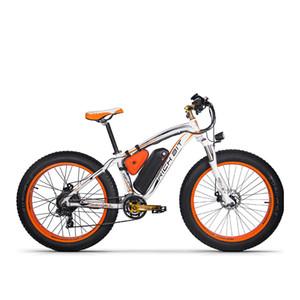Großhandel Neue RT-012 Plus Leistungsstarke Elektrische Fahrrad 21 Geschwindigkeit 17AH 48 V 1000 Watt Fett Reifen Ebike Mit Computer Tacho elektrische Odomet