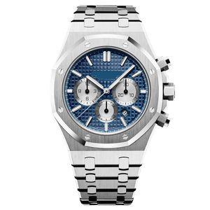 Top Men Watch Mens Alta Qualidade Sports Moda mecânico automático VK de quartzo movimento de cronógrafo relógios 3ATM Relógio de pulso à prova d'água