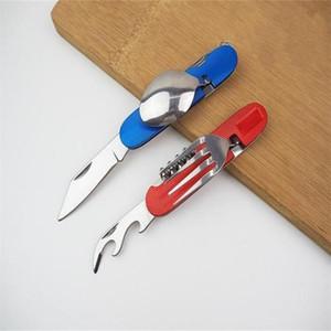 أدوات المائدة للطي سكين في الهواء الطلق الفولاذ الصلب السكاكين شوكة ملعقة مجموعات للتخييم في الهواء الطلق أدوات المائدة العملية يسهل حملها