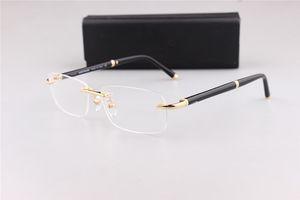 374 clásicos de negocio sin montura cuadrada hombres marco de los vidrios de las gafas de prescripción con el original de la OME embalaje de salida de fábrica de la marca