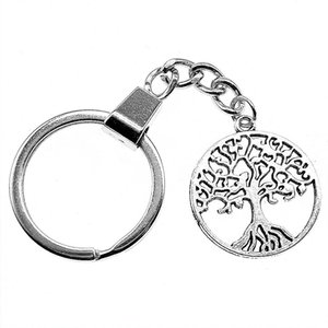 6 Pieces Key Chain Women Key Rings For Car Keychains With Charms Tree Of Life 25x25mm