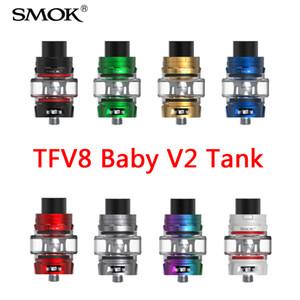 Smok TFV8 Baby V2 Réservoir 5ml Sous Ohm Atomiseur 510 Fil Ampoule Verre Édition Max Mesh Idéal pour MAX VAPE 100% authentique
