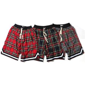 Mens Scottish Pattern Plaid Shorts Lässige Printed Board Shorts Mode Männliche High Street Kleidung Freies Verschiffen