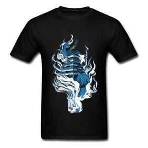 2018 monstre bataille crâne impression homme t-shirt noir équipe personnalisée cool t-shirts