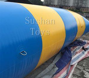 Di trasporto 5 * 2m acqua calda Gioco acqua gonfiabile Blobs salto Balloon 0,9 mm PVC Water Catapult trampolino in vendita