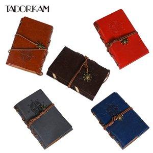 1pc Ancres Pirate Notebook 10.5 * 14.5cm doux Mémo en cuir Pad Diary Plan de bureau cadeau école Fournitures Sketchbook