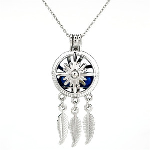 K789 Silber Legierung Traumfänger Kompass Perle Käfig ätherisches Öl Diffusor Aroma Bead Cage Locket