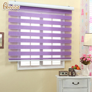 Free shipping quality double-layer roller zebra blinds customized curtains W100cmxH100cm