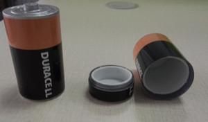 Caixa de pílula stash bateria caixa de metal seguro acessórios de fumar Diversion Armazenamento Escondido Moedas Dinheiro Caso Recipiente 33 * 60mm 2 estilo
