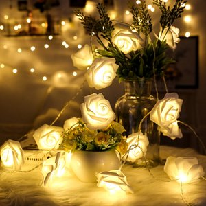 20LED 40LED Rose Luz 8 cores AAA batery Operado LED luzes do feriado de Spray luz constante flash Fariy Início Xmas Wedding Deco