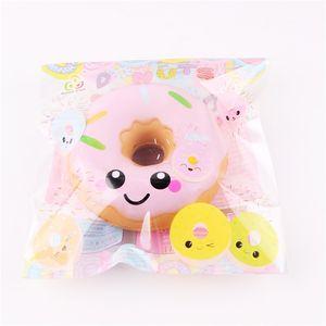 Squishy Donut Медленно растущие игрушки для декомпрессии Jumbo Food Bread Cake для детей Взрослых Синий Розовый Игрушка для снятия стресса