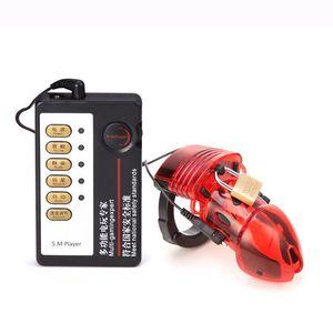 Бесплатная доставка Electro Shock Целомудрие Dick Клетка Penis Ring Электрические Ударные Cock Cage Секс-игрушки для мужчин 3 цвета для выбрать