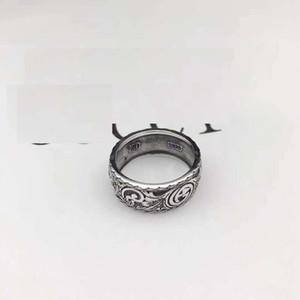 Yüksek kaliteli 925 silverJapanese-Kore moda marka yüzük gümüş severler erkekler İngiliz tarzı Vintage eski halka halka