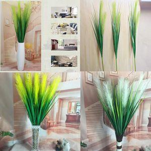 Fleurs artificielles 120cm 2 têtes soie Reed Herbe Creative Accueil Bureau de soirée de mariage Favor Décoration Plantes Faux GGA466 40PCS