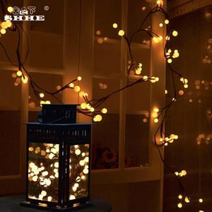 방 침실 장식 20Leds 문자열 빛 LED 나뭇 가지 포도 나무 빛 라운드 공 크리스마스 장식 조명