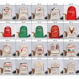 Рождественский подарок сумка Большие Canvas Хэллоуин сумки Санта Sack Drawstring мешок рождественские украшения с оленями Санта-Клаус Sack Сумки для детей