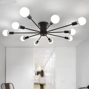 Современные простые Светодиодные потолочные светильники Nordic гостиная свет ресторан лампы спальня потолочное освещение утюг ремесла потолочные светильники