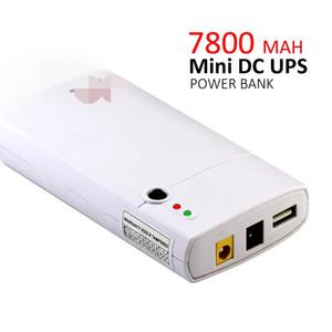 12 V 7800 MAH USB 2A 2 yollu çıkış powerbank DC Mini Ups router yedekleme güç Kesintisiz güç kaynağı Ile bir anahtar