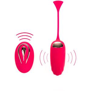 Brinquedos Massager Vibrating Control Estimulador Love Body Vibrator Remoto Vagina Novelidade do Ovo Clitóris Bola Adulto Para Mulher Y18102 Bomh