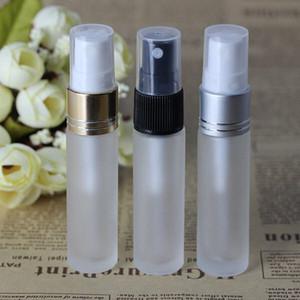 600pcs / lot givré clair de bouteilles de pulvérisation de verre vide contenants cosmétiques atomiseur de parfum rechargeable Voyage portable Bouteille