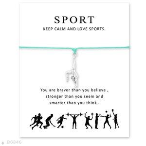 Custom- Silver Artistic Gymnastics Charm Bracelets para mujeres niñas regalos pulseras ajustables declaración con tarjeta
