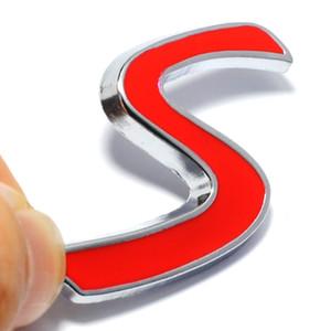 Yeni 3D Krom Metal Kırmızı S Logosu Araba Amblem Sticker BMW Mini Cooper Araba Kuyruk Dekorasyon Styling Çıkartmaları için Dış aksesuarları