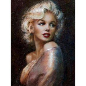 مارلين مونرو النفط اللوحة لصق كامل مربع عبر غرزة لوحات الديكور المنزل ساحة الماس التطريز diy اللوحة