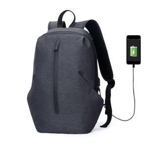 FEGER Carga USB impermeable Anti Theft Mochila Hombres 15 pulgadas Mochilas Portátiles Mochilas escolares de viaje de moda bolso de escuela masculina
