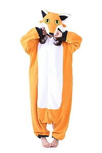 동물의 코스프레 의상 New Fox Unisex Adult Pajamas