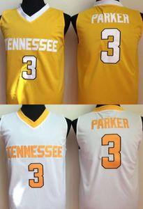 Mens Tennessee Freiwillige Candace Parker College Basketball Jersey Günstige Herren 3 Candace Parker Universität Basketball genäht Trikots