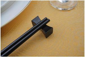 Chinese Cor Preto Chopstick Resto tradicional Irregular travesseiro em forma Titular Chopsticks Hotel Restaurante Cozinha Acasalamento Louça