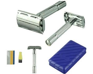 ديليكت شفرات حلاقة للرجال ، تقليدية ، سلامة ، حافة مزدوجة ، شفرات الحلاقة الفضية ، حلاقة الشعر ، مرآة