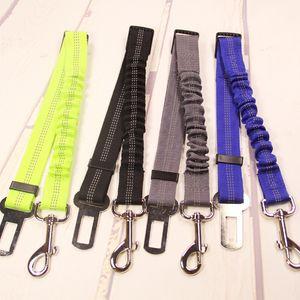 Dell'automobile del veicolo dell'animale domestico di sicurezza del cane cintura di elastico riflettente cane cintura di sicurezza del cablaggio del guinzaglio Collari Guinzagli T2I207