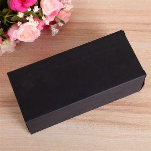 200 pçs / lote Black Craft Caixa de Papel Kraft Embalagem Caixa de Óculos caso Caixas de Presente Caixas de Presente 17.3 cm x 7.6 cm x 6 cm