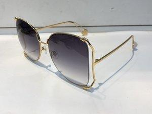 0252 Óculos de sol mulheres vendendo popular moda grande quadro oco estilo de verão qualidade de proteção UV lente vêm com o caso 0252s