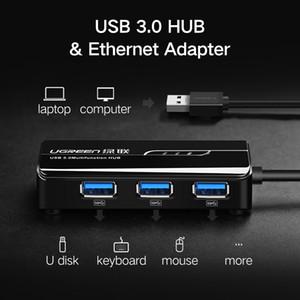 Ugreen USB Ethernet لنظام التشغيل Windows 10 Xiaomi Mi Box 3 ، مجموعة أجهزة تلفاز تعمل بنظام Android ، USB 3.0 2.0 HUB إلى بطاقة شبكة محول RJ45 LAN