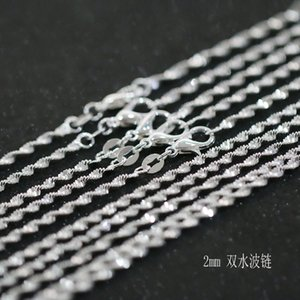 40pcs lot Top Necklace Pendant 925 Silver Chains Chain Jewelry 2mm Chain For Plated Accessories Sale Clavicle Fit Ixnig