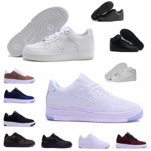 2019 Nike Air Force one 1 Af1 Moda Uomo Scarpe Low One 1 Uomo Donna Cina Casual Scarpe Fly Designer Royaums Tipo Breathe Skate knit Femme Homme 36-45